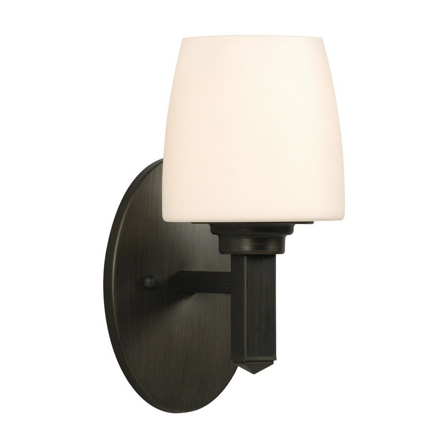 Galaxy 5-in W Serena 1-Light Oil-Rubbed Bronze Arm Wall Sconce