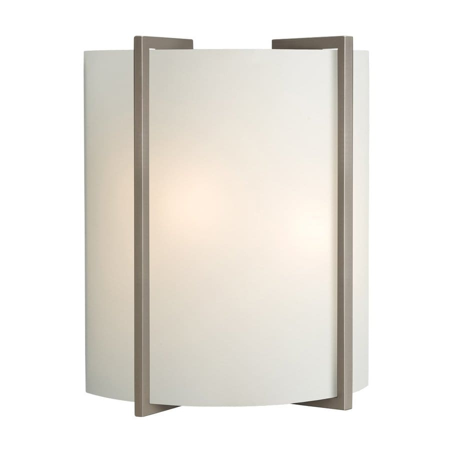 Galaxy 10-in W 1-Light Brushed Nickel Pocket Wall Sconce