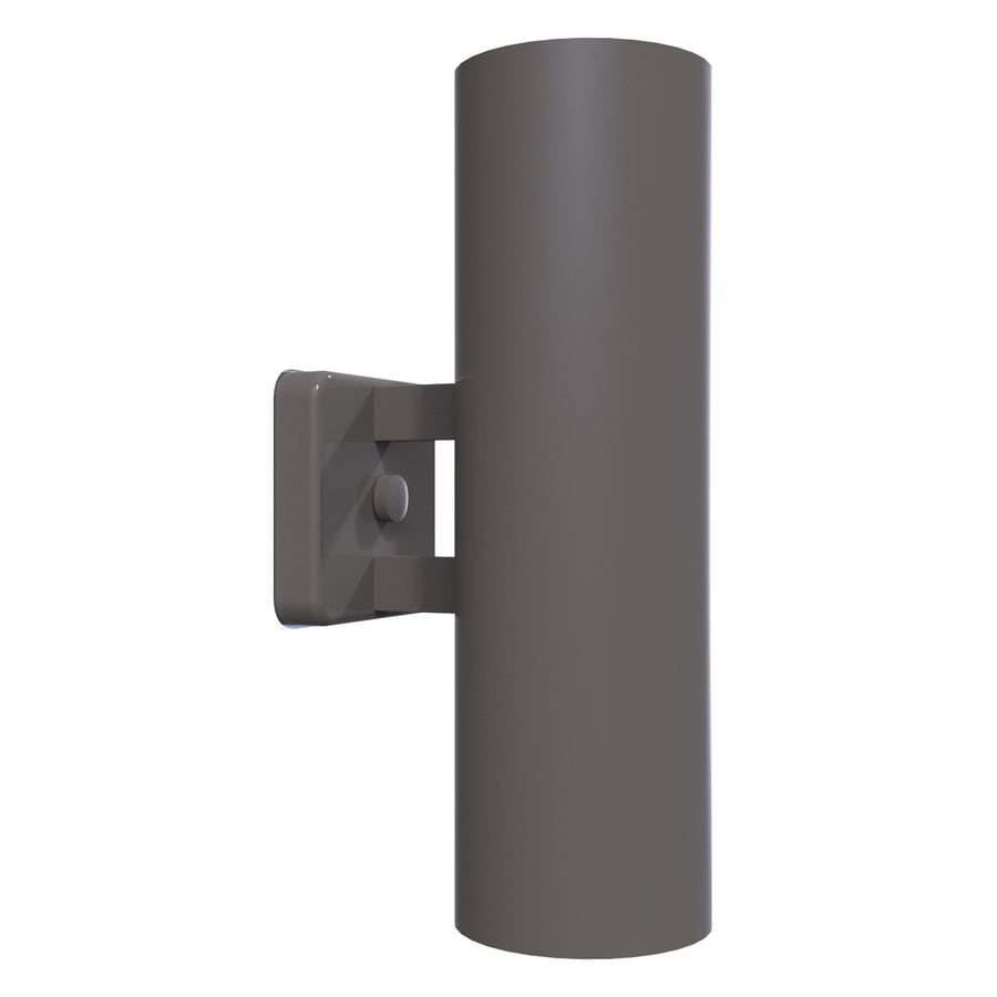 Remcraft Lighting Retro 14-in H Gray Outdoor Wall Light
