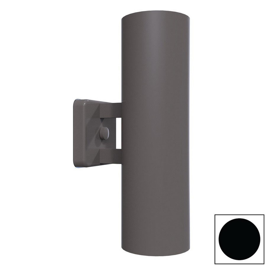 Remcraft Lighting Retro 14-in H Black Outdoor Wall Light