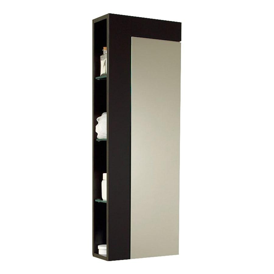Fresca Stella 13.75-in W x 39.38-in H x 5.88-in D Espresso MDF Wall-Mount Linen Cabinet