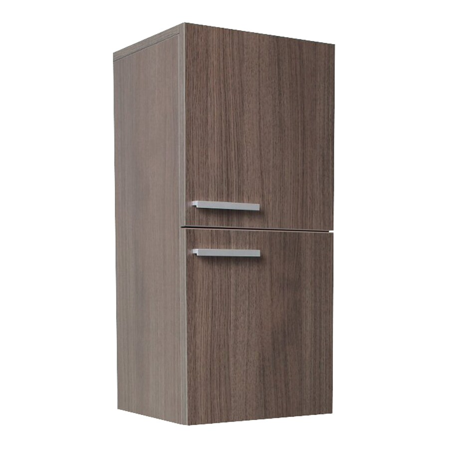 Fresca Senza 12.63-in W x 27.5-in H x 12-in D Gray Oak MDF Wall-Mount Linen Cabinet