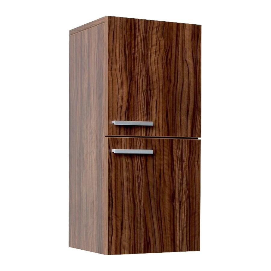 Fresca Senza 12.63-in W x 27.5-in H x 12-in D Walnut MDF Wall-Mount Linen Cabinet