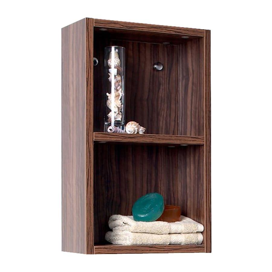 Fresca Senza 11.88-in W x 19.63-in H x 5.88-in D Walnut MDF Wall-Mount Linen Cabinet