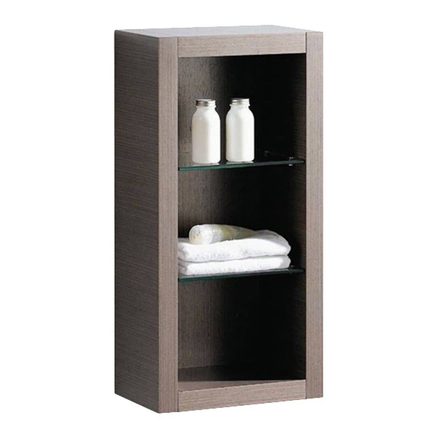 Fresca Trieste 15.75-in W x 32-in H x 10-in D Gray Oak Plywood Wall-Mount Linen Cabinet
