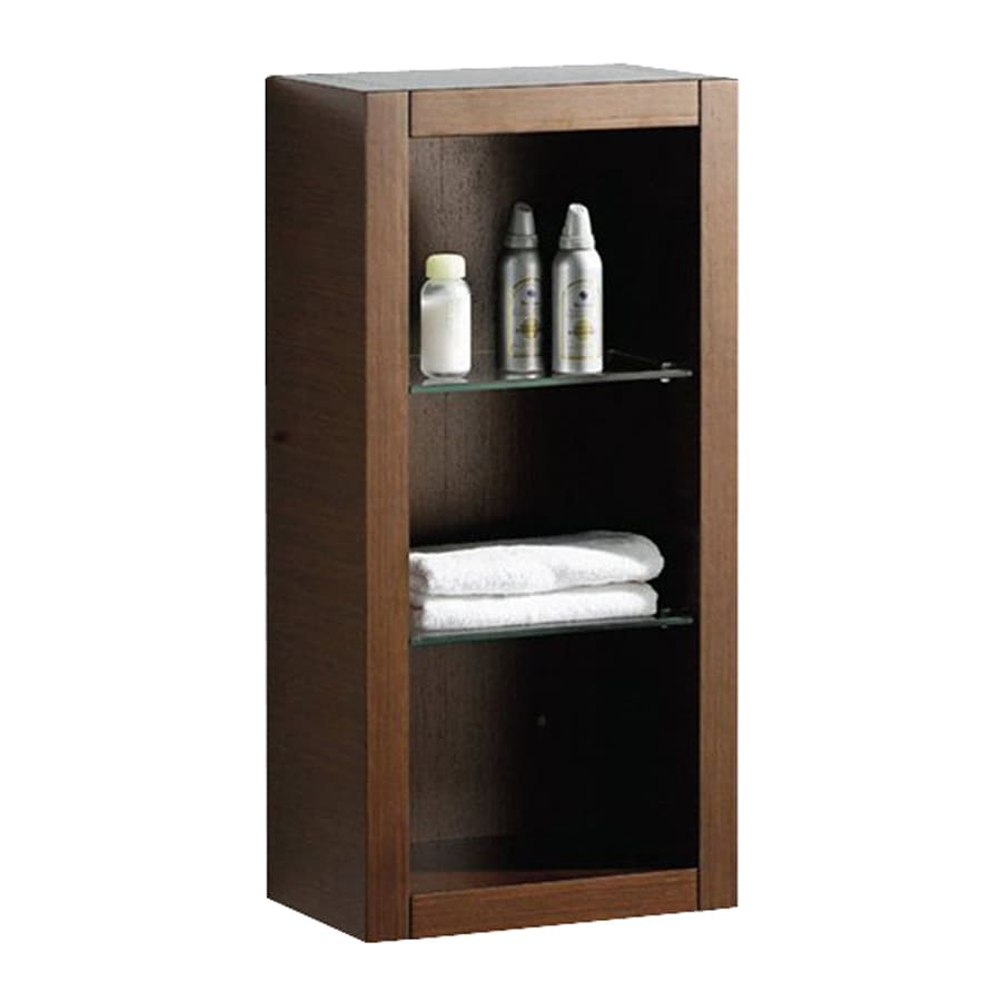 Fresca Trieste 15.75-in W x 32-in H x 10-in D Wenge Brown Plywood Wall-Mount Linen Cabinet