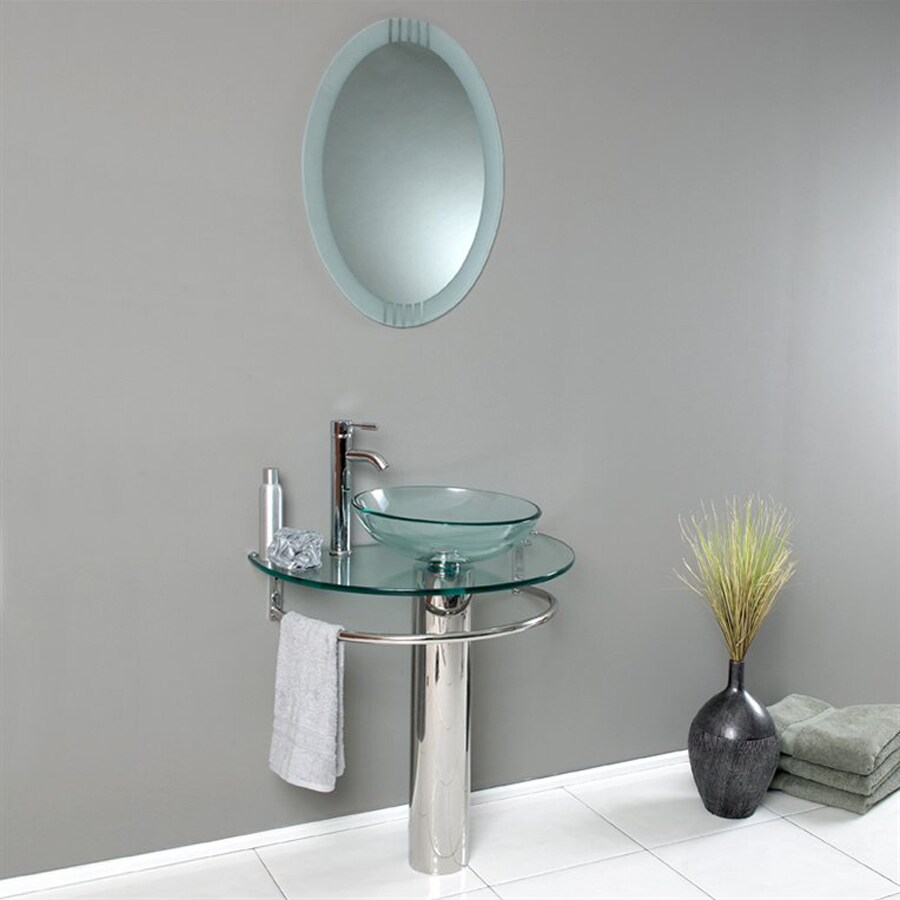 Glass Sink Bathroom Shop Fresca Vetro Stainless Steel 2975 In Vessel Single Sink