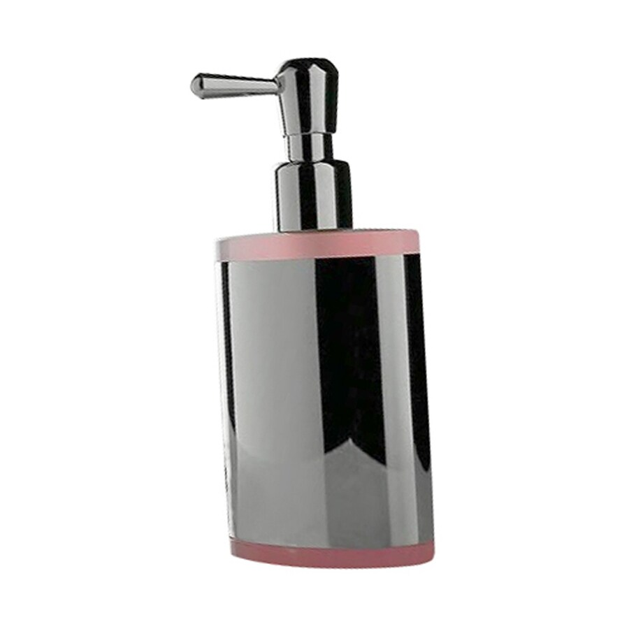 Nameeks Kor Chrome/Pink Soap and Lotion Dispenser