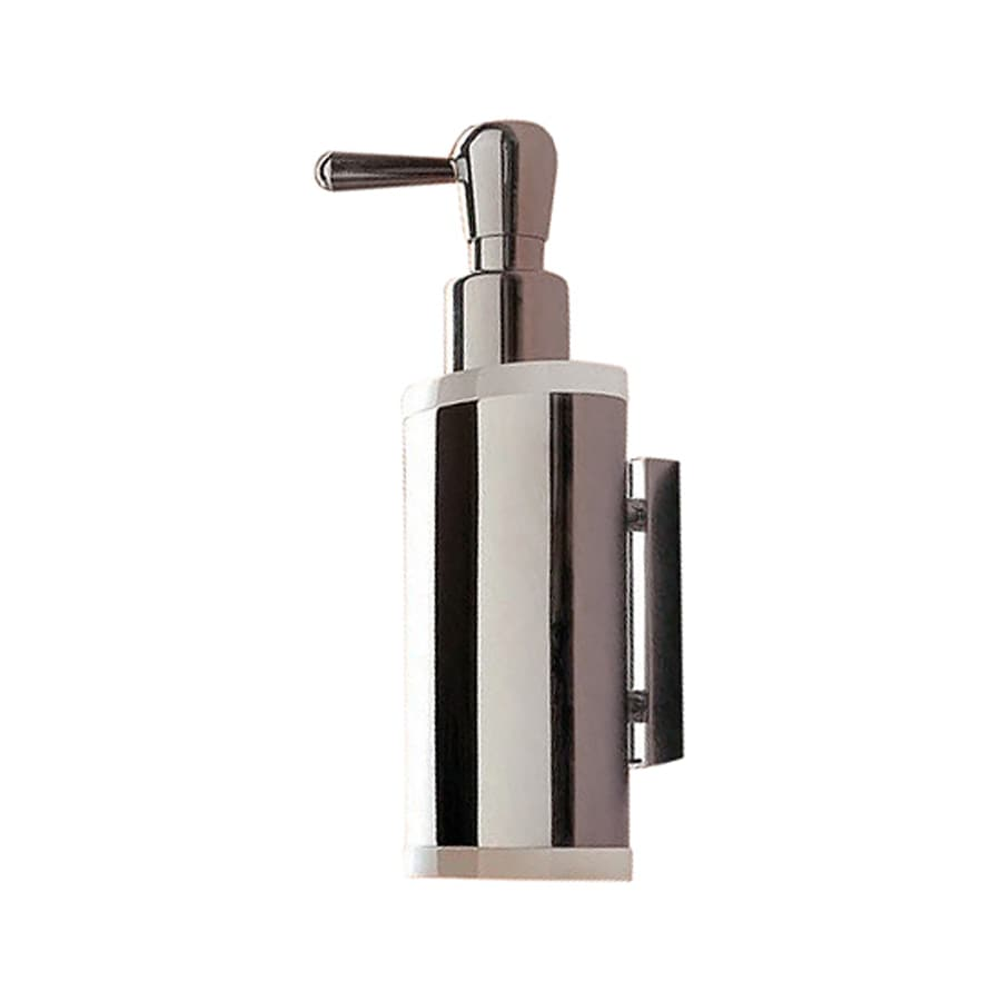 Nameeks Kor Chrome/White Wall-Mount Soap and Lotion Dispenser