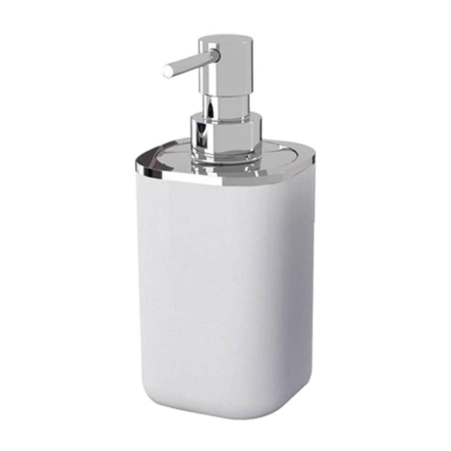 Nameeks Bijou Chrome/White Soap and Lotion Dispenser