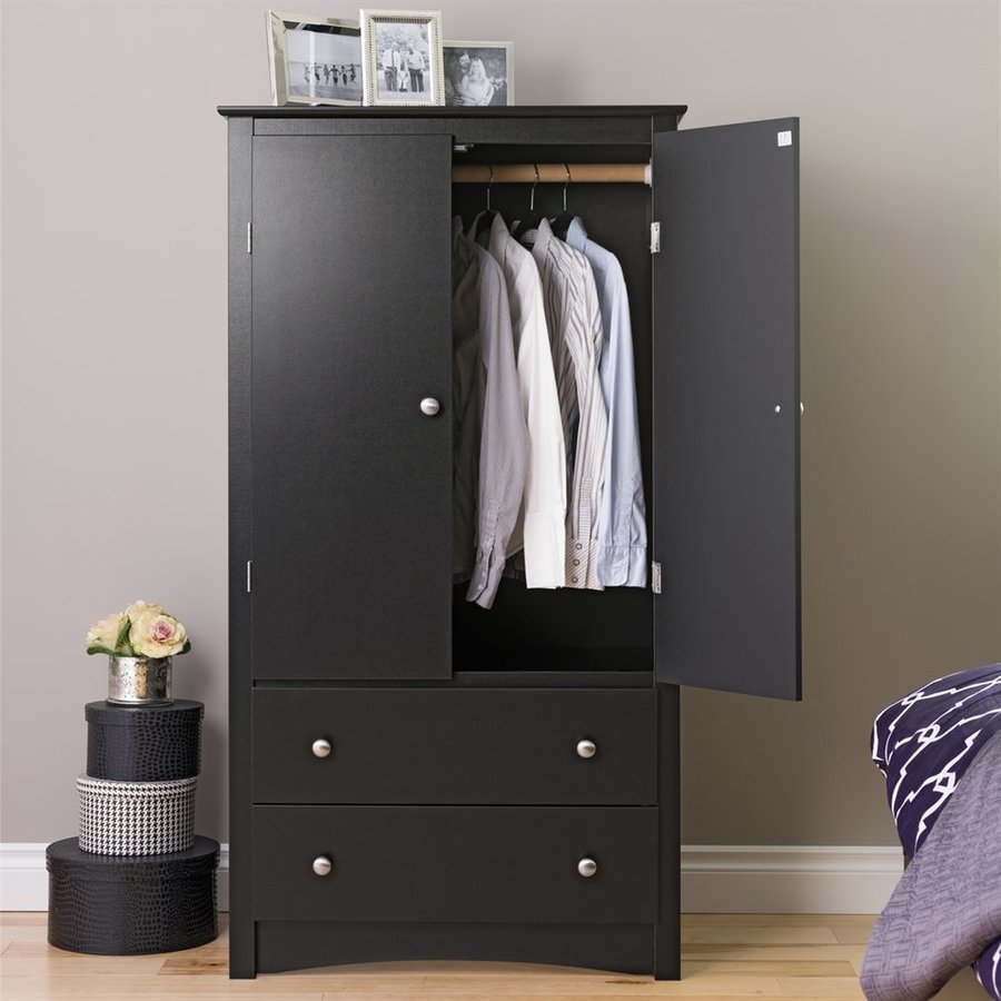 Prepac Furniture Sonoma Black Armoire