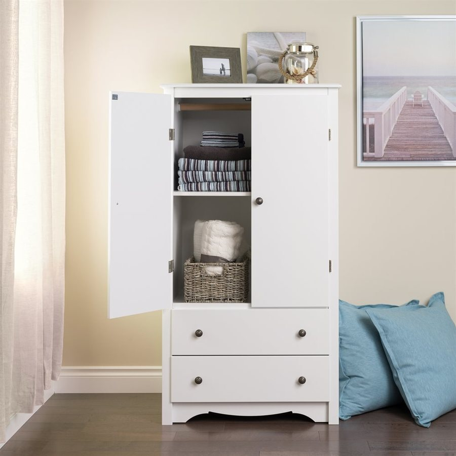 Prepac Furniture Monterey White Armoire