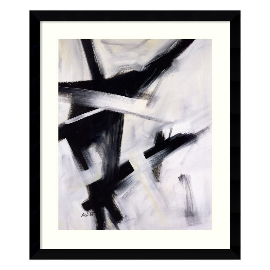 Amanti Art 32.62-in W x 38.62-in H Framed Paper Abstract Prints Wall Art