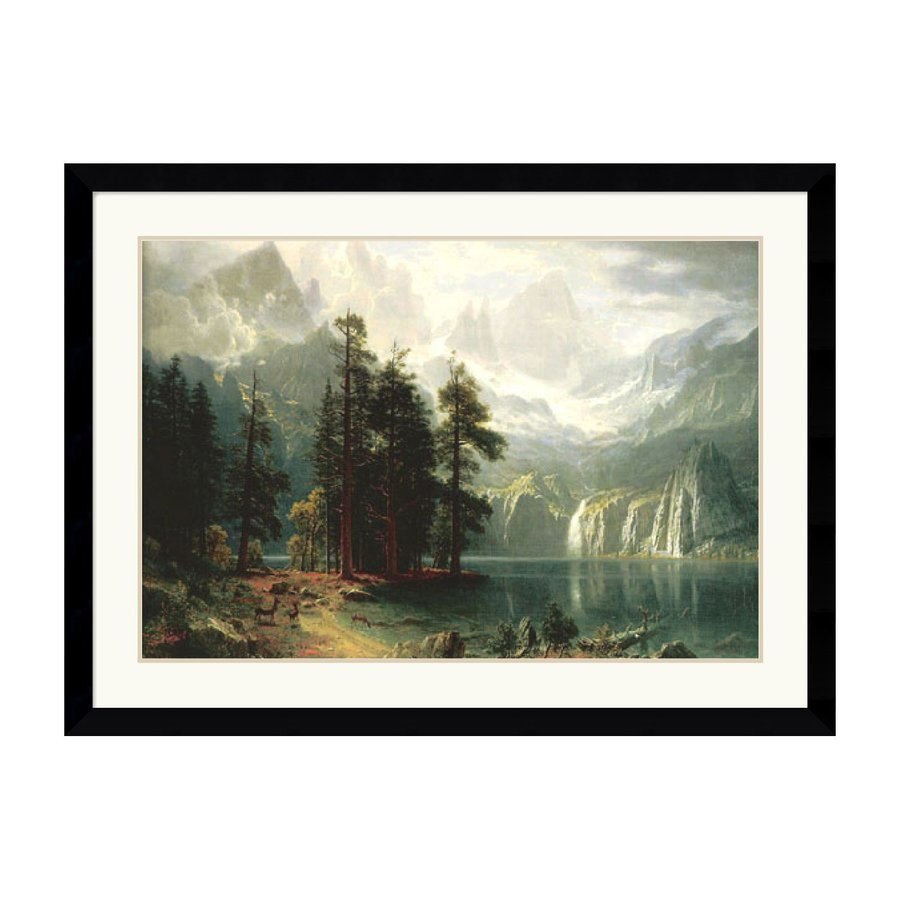 Amanti Art 44.62-in W x 32.74-in H Framed Wood Landscapes Prints Wall Art
