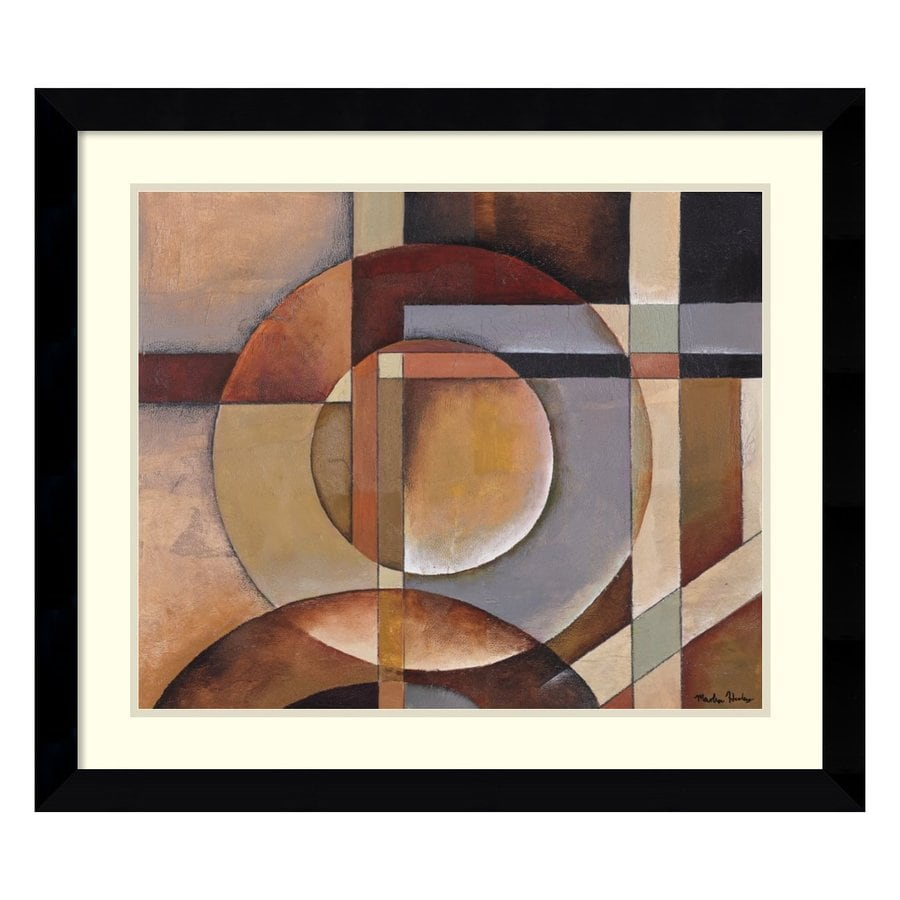 Amanti Art 31.62-in W x 27.62-in H Framed Paper Abstract Prints Wall Art