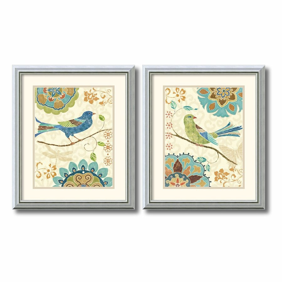 Amanti Art 2-Piece 16.99-in W x 19.99-in H Framed Wood Animals Prints Wall Art