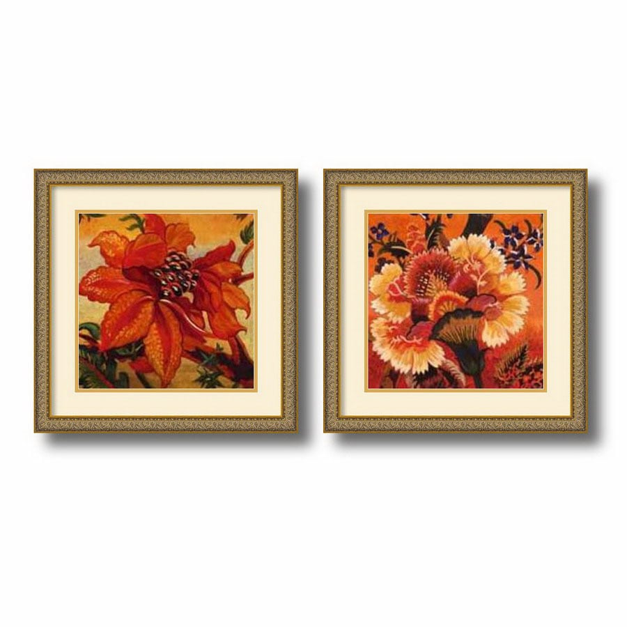 Shop amanti art 2112 in w x 2112 in h floral and still for Kitchen cabinets lowes with wall art flower