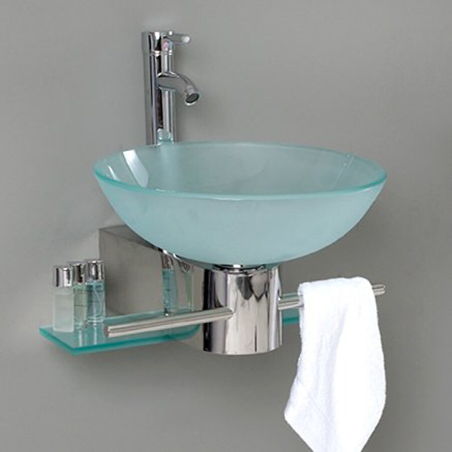 Fresca Vetro Stainless Steel Single Vessel Sink Bathroom Vanity With Tempered Glass And Glass Top