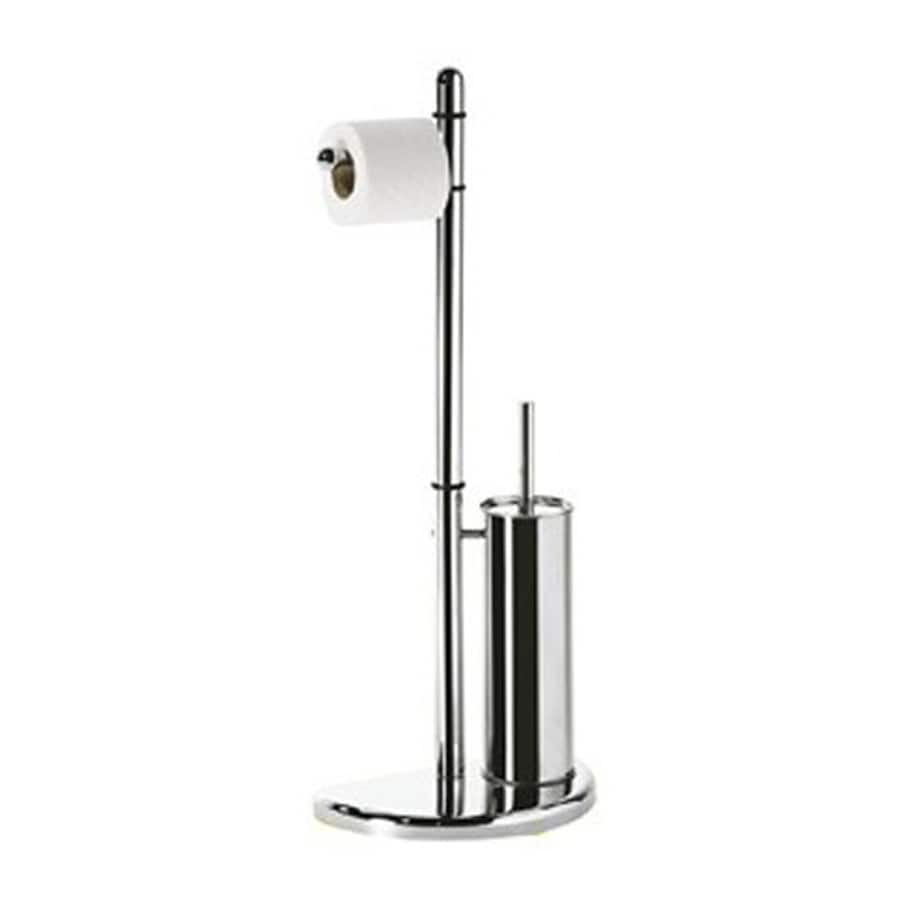 Nameeks Hibiscus Chrome Toilet Brush Holder