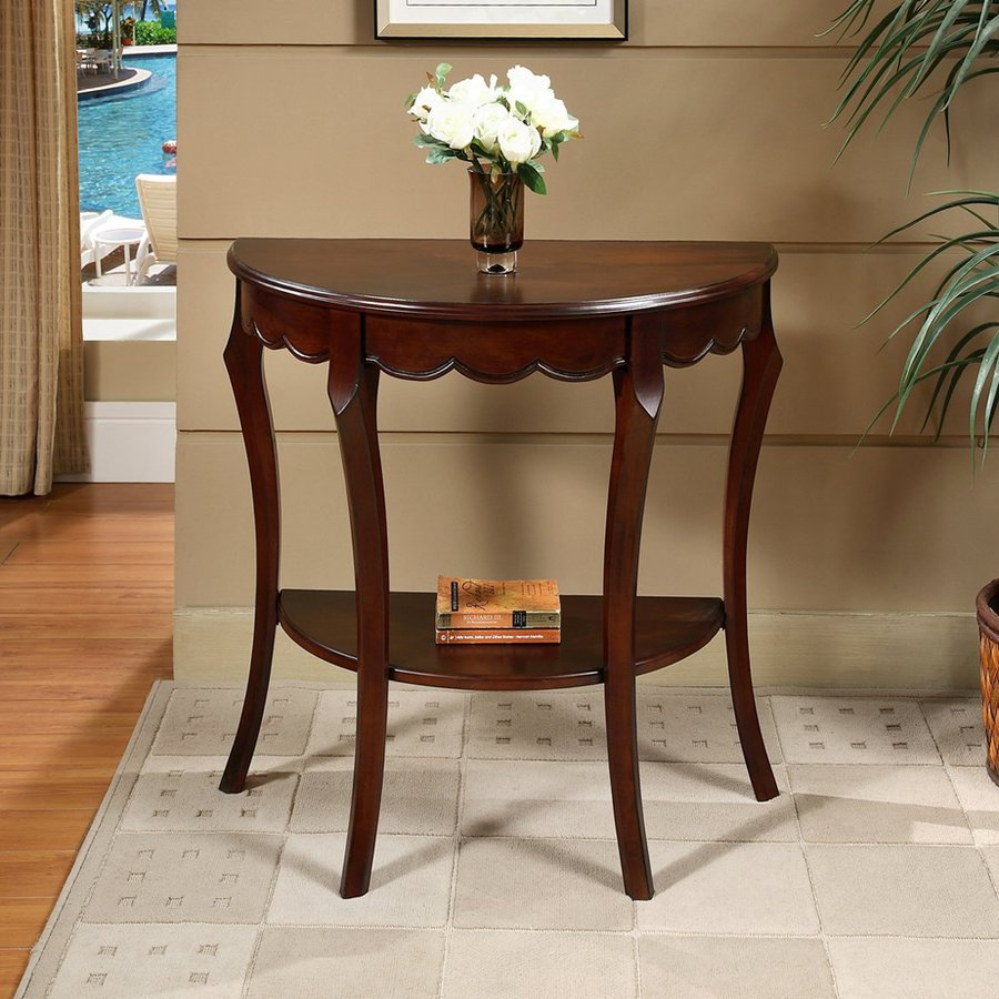 All Things Cedar Cherry Wood Casual Console Table At Lowes Com