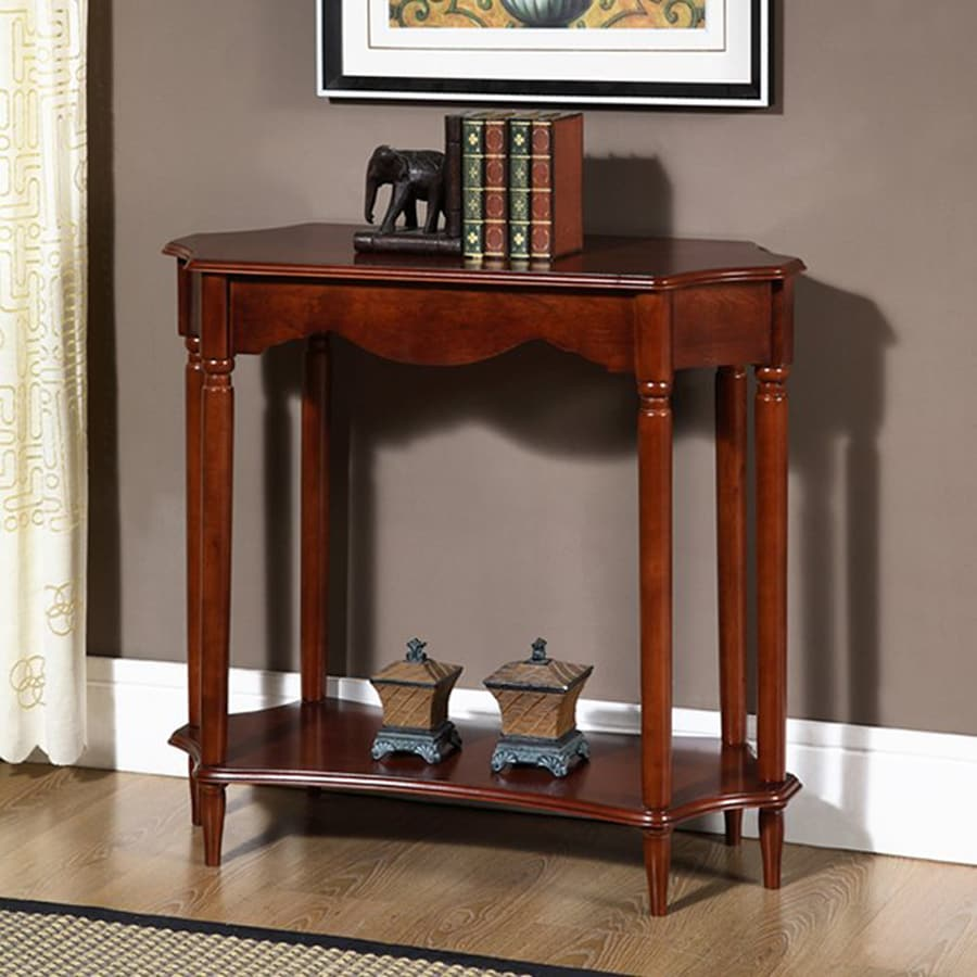 All Things Cedar Cherry Birch Rectangular Console Table