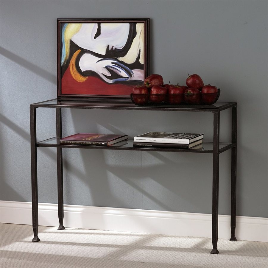 Boston Loft Furnishings Dunbar Industrial Style Kitchen: Boston Loft Furnishings Clear Glass Industrial Sofa Table