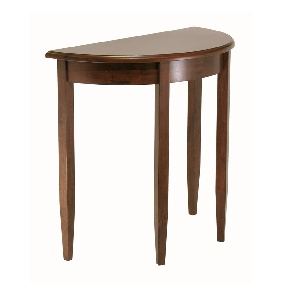 Winsome Wood Concord Antique Walnut Half-Round Sofa Table