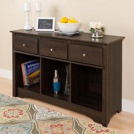Prepac Furniture Espresso Composite Casual Console Table