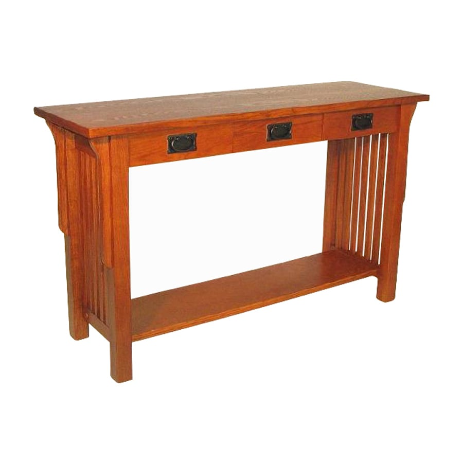 Shop Wayborn Furniture Oak Birch Console Table at Lowes.com