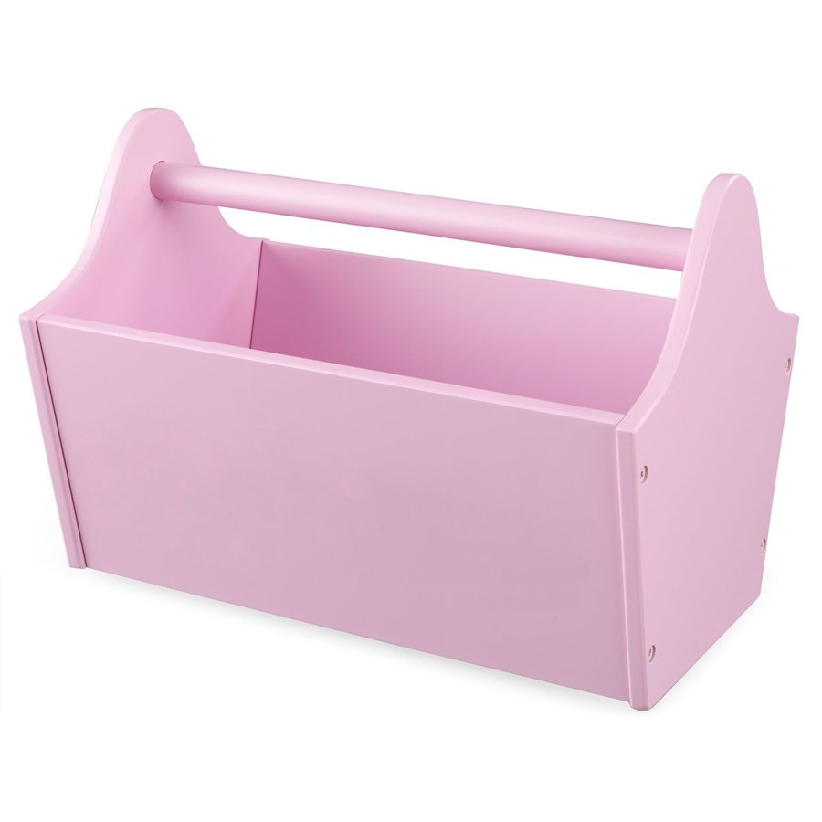 KidKraft 13-in W x 9-in H x 9-in D Pink Toy Caddy