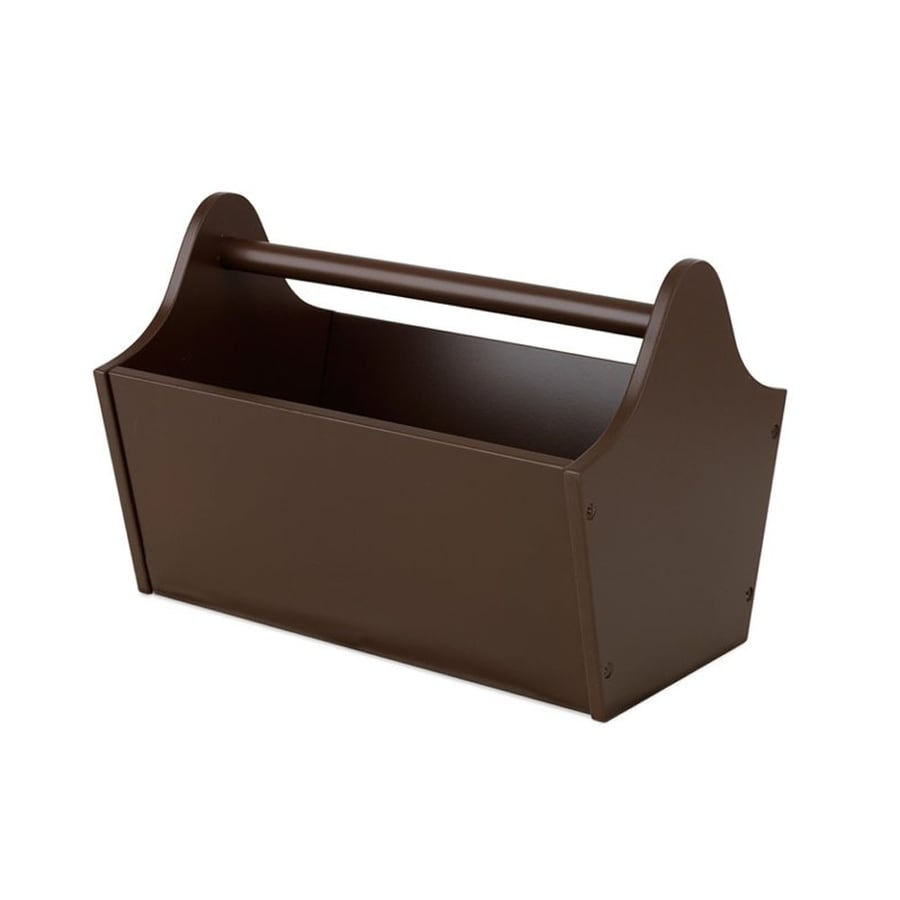 KidKraft 13-in W x 9-in H x 9-in D Chocolate Toy Caddy