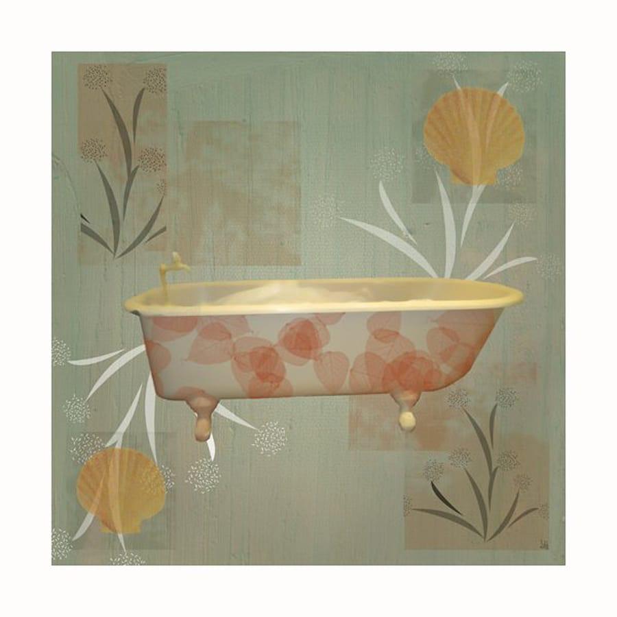 Cascadia 12-in W x 12-in H Frameless Canvas Bath 1 Print Wall Art