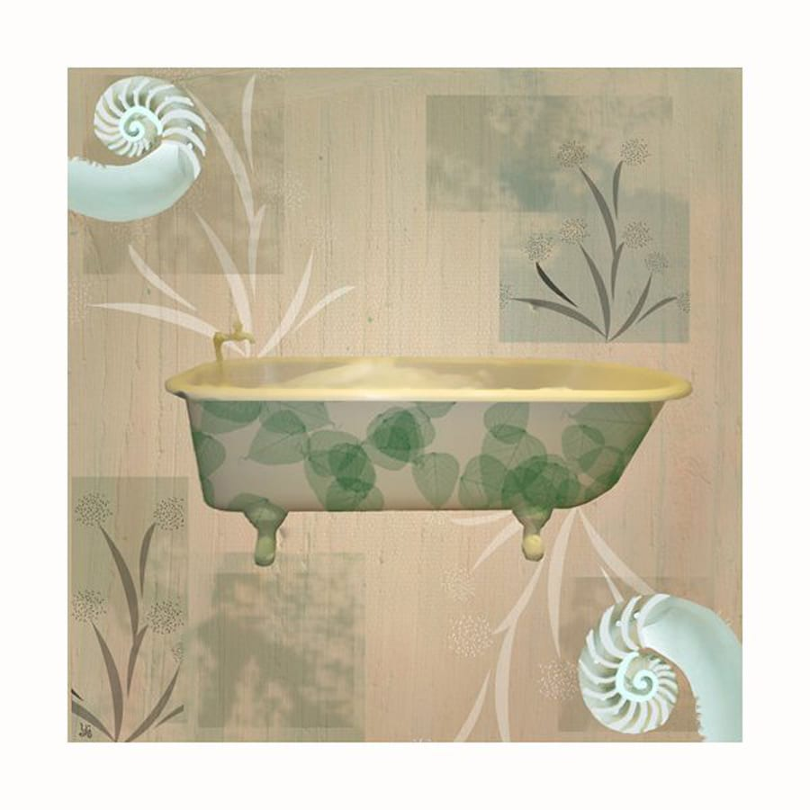 Shop cascadia 12 in w x 12 in h frameless bath 2 canvas for Kitchen cabinets lowes with wall print art