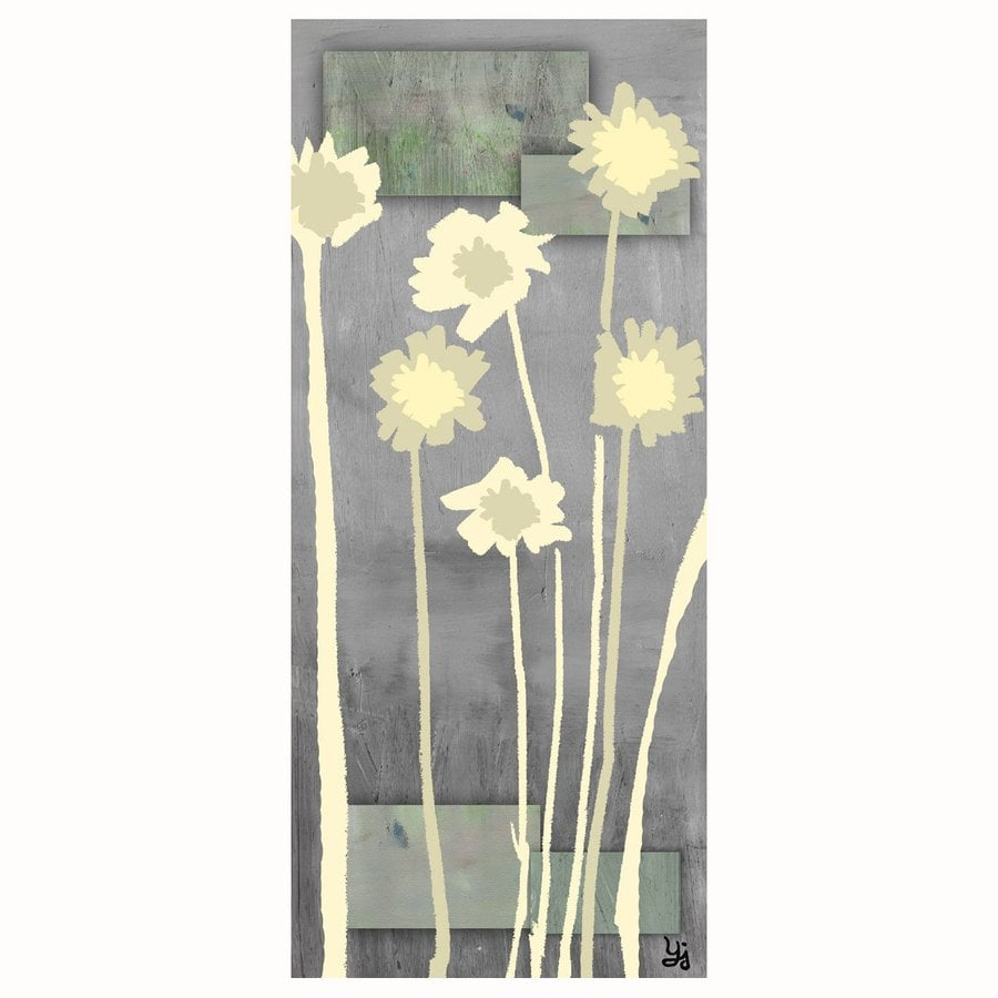 Cascadia 20-in W x 40-in H Frameless Canvas Contemporary Flowers 1 Print Wall Art