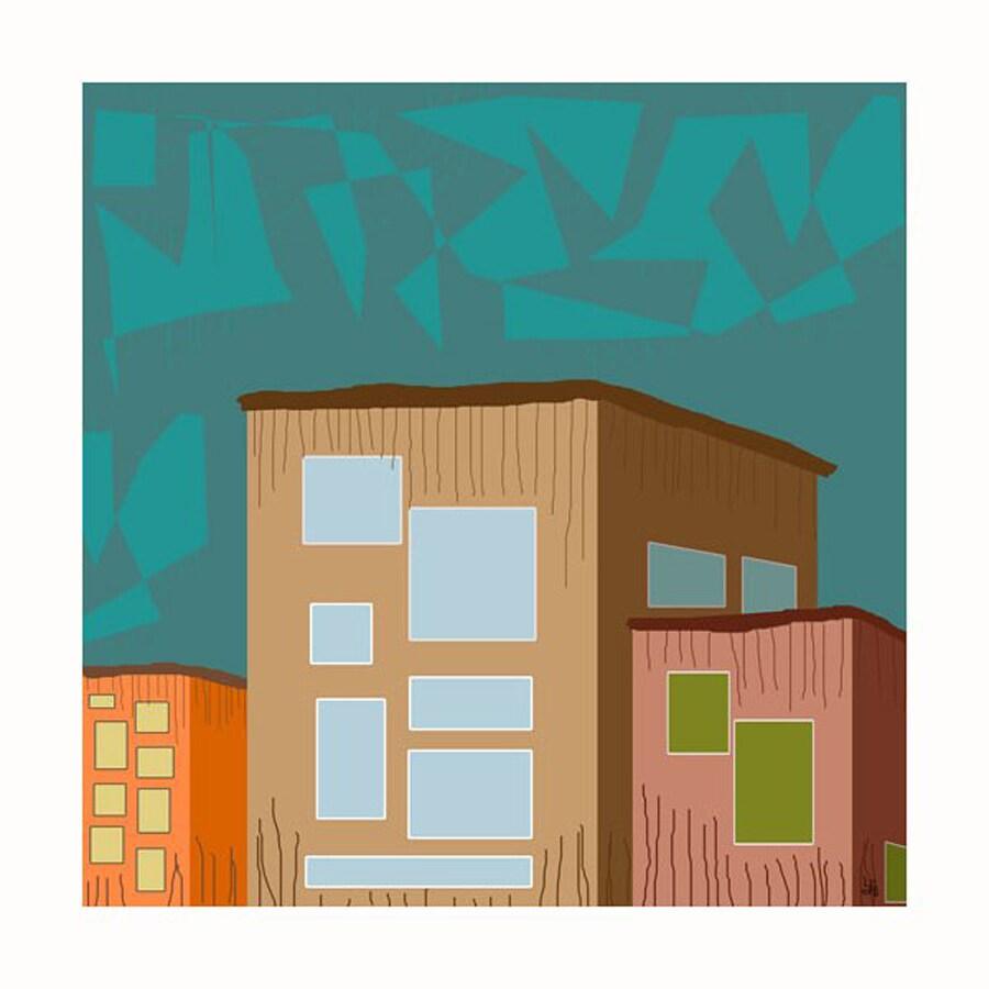 Cascadia 24-in W x 24-in H Frameless Canvas Buildings 1 Print Wall Art