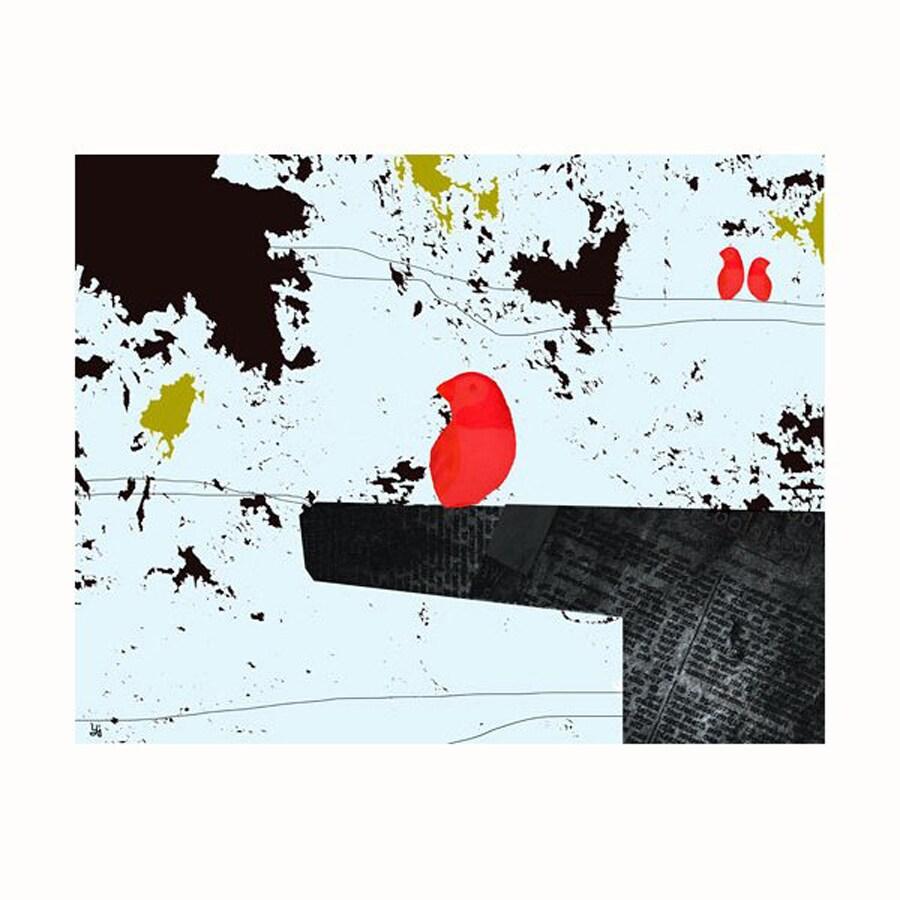Cascadia 14-in W x 11-in H Frameless Canvas Bird On Table 2 Print Wall Art