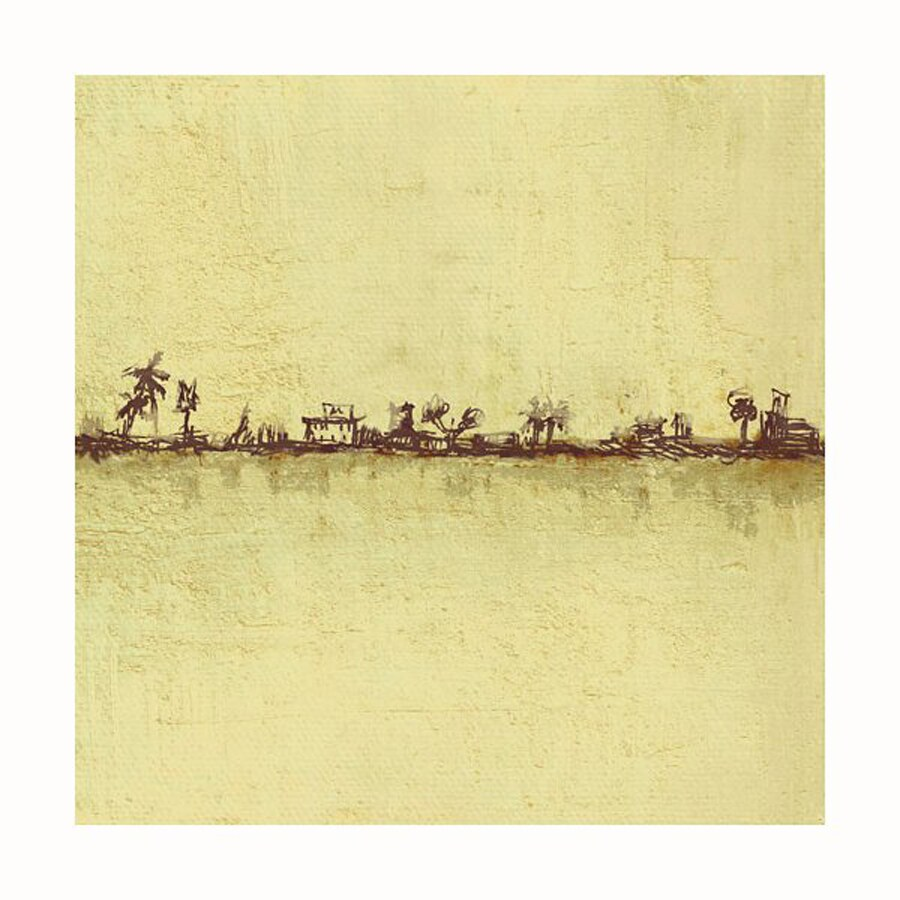 Cascadia 36-in W x 36-in H Frameless Canvas Yellow Island Print Wall Art