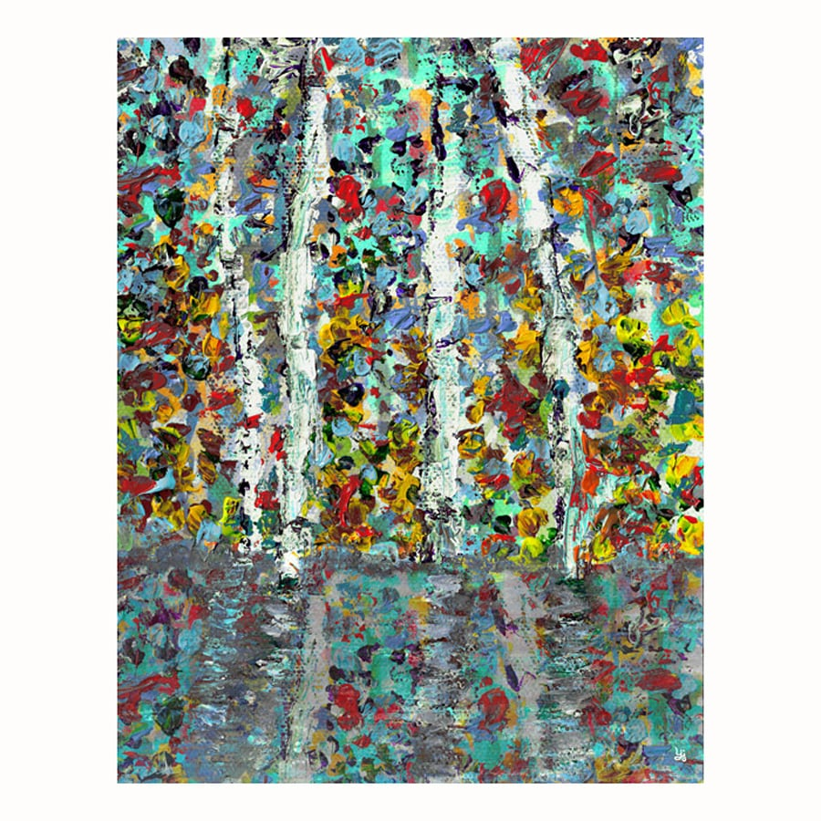 Cascadia 22-in W x 28-in H Frameless Canvas Trees On Lake 1 Print Wall Art