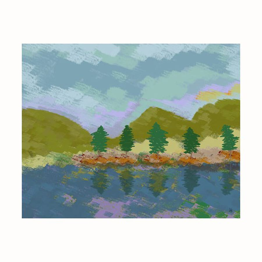 Cascadia 30-in W x 24-in H Frameless Canvas Lake Sensation Print Wall Art