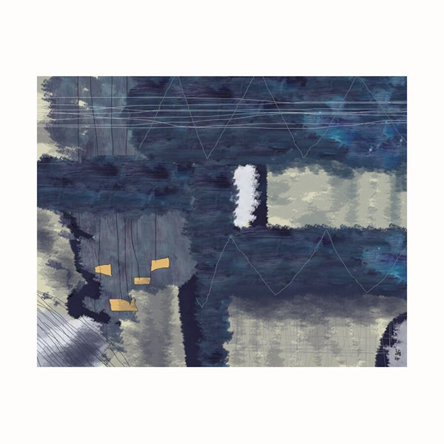 Cascadia 14-in W x 11-in H Frameless Canvas Dark Abstract 1 Print Wall Art
