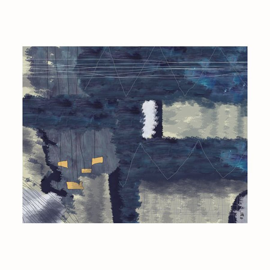 Cascadia 28-in W x 22-in H Frameless Canvas Dark Abstract 1 Print Wall Art