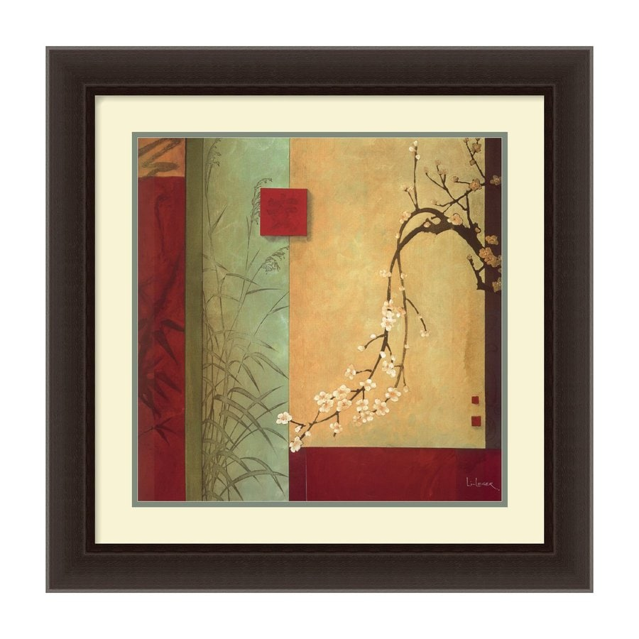Amanti Art 22.21-in W x 22.21-in H Framed Paper Floral Prints Wall Art