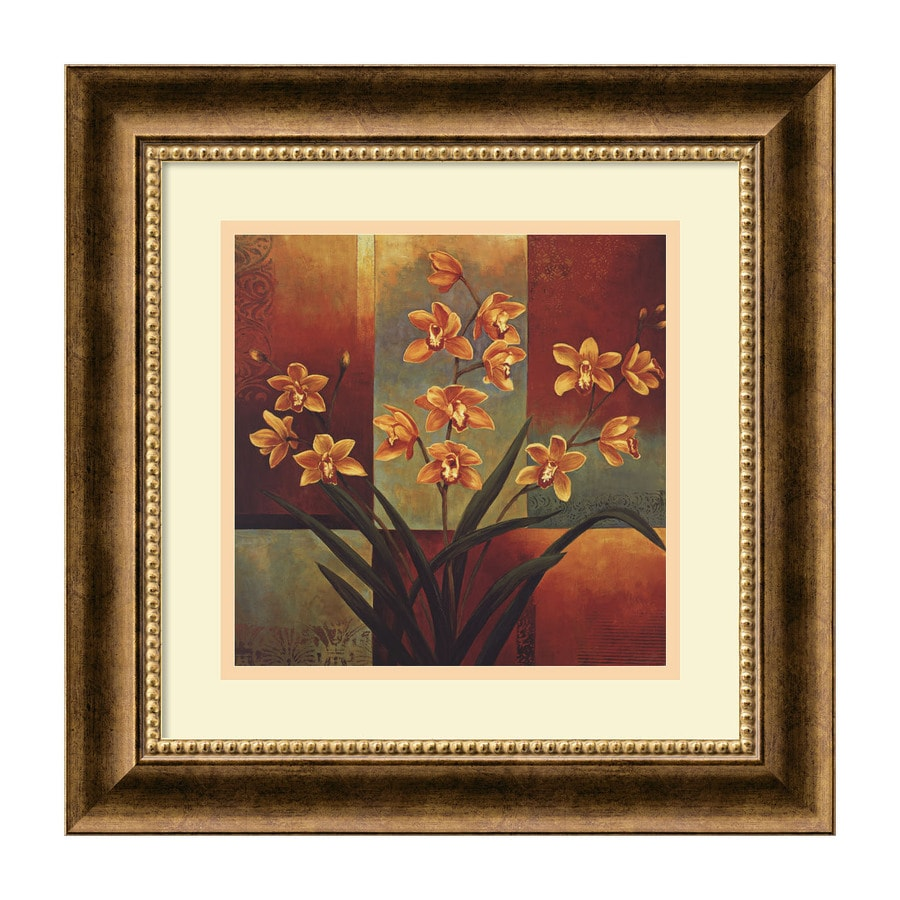 Amanti Art 16.72-in W x 16.72-in H Framed Paper Floral Prints Wall Art
