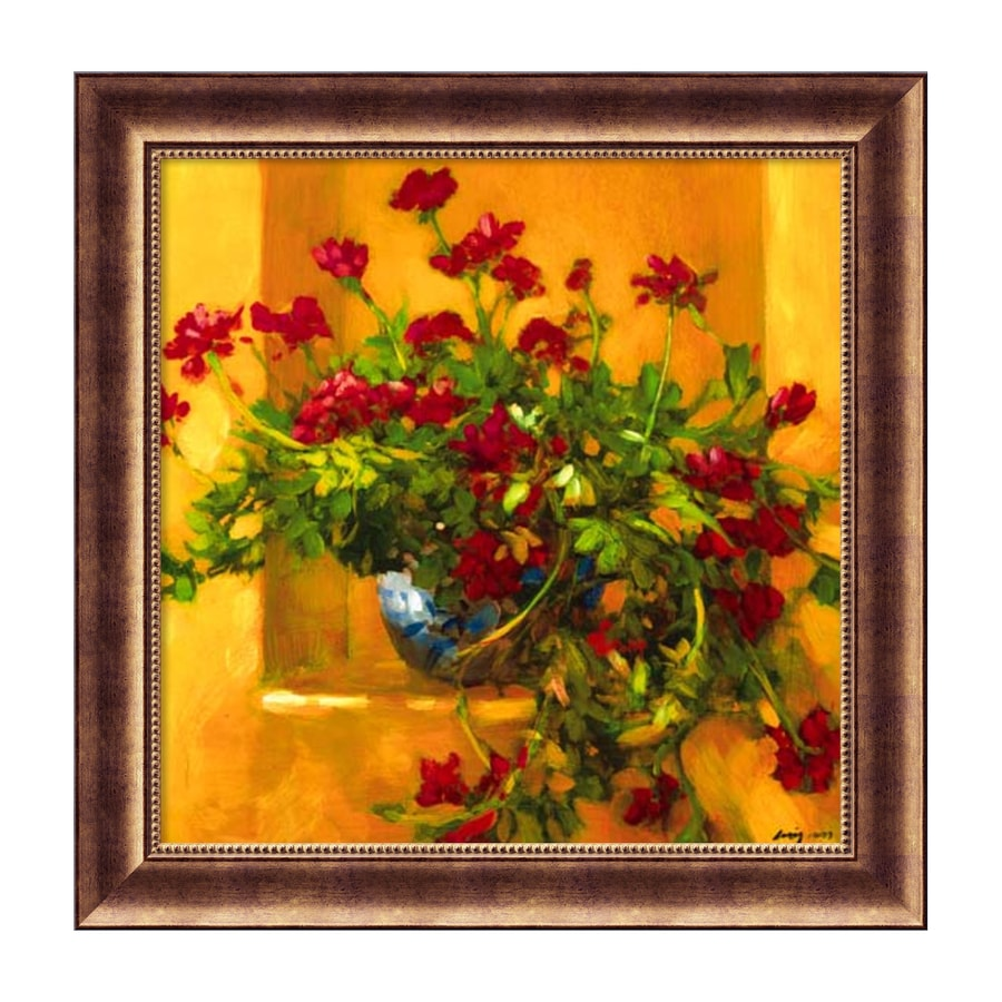 Amanti Art 29.5-in W x 29.5-in H Framed Paper Floral Prints Wall Art