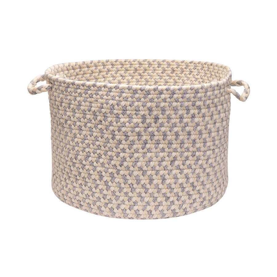 Colonial Mills 18-in W x 12-in H Stonewash Plastic Basket