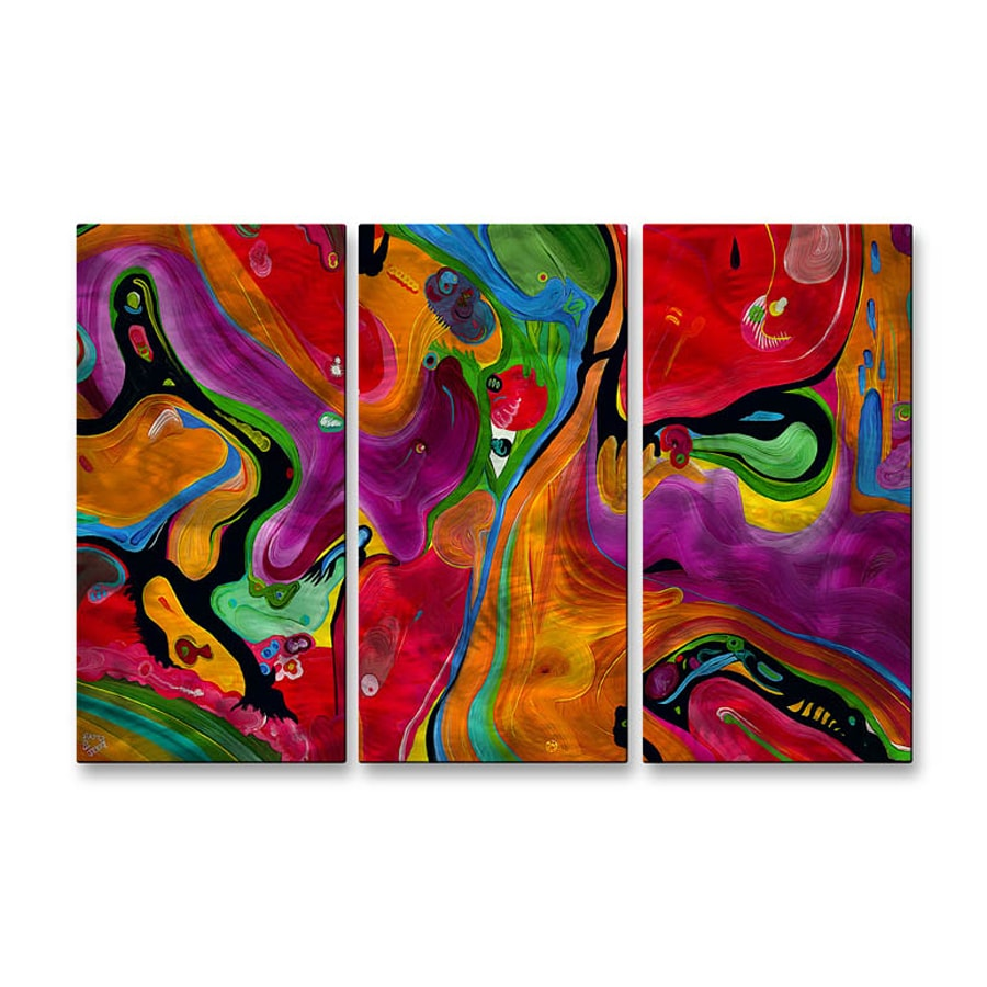 All My Walls 38-in W x 23.5-in H Frameless Metal Abstract Sculpture Wall Art