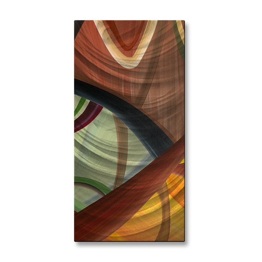 Shop all my walls 10 in w x 235 in h frameless metal for Kitchen cabinets lowes with modern abstract metal wall art sculpture