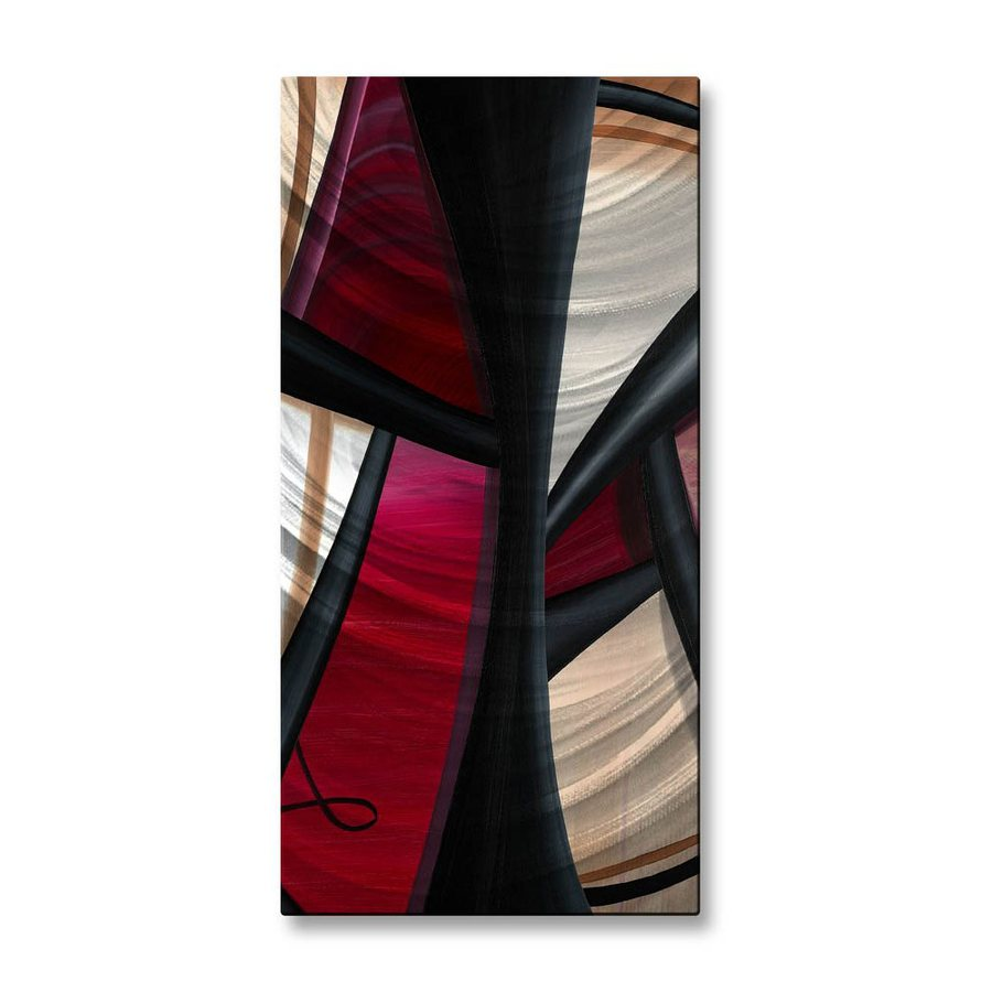 All My Walls 10-in W x 23.5-in H Frameless Metal Abstract Sculpture Wall Art