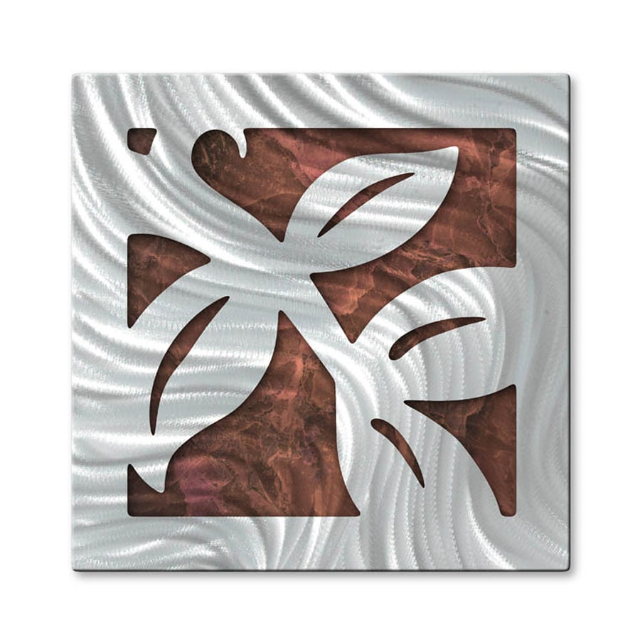 All My Walls 18-in W x 18-in H Frameless Metal Abstract Sculpture Wall Art