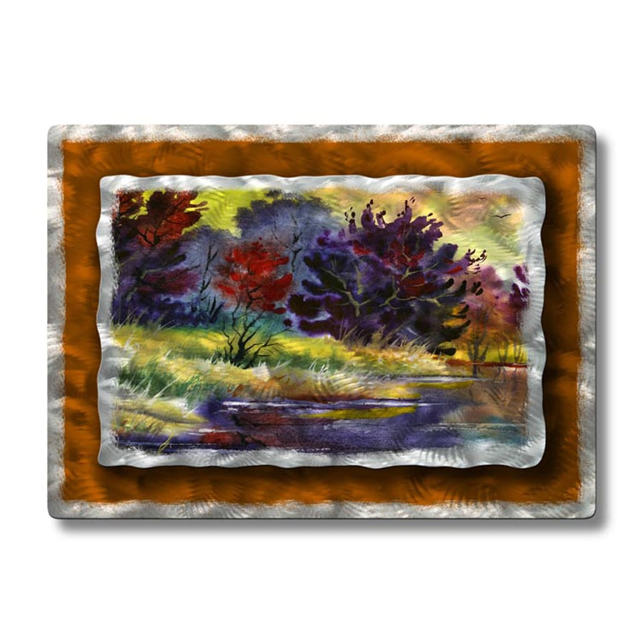 All My Walls 32-in W x 23-in H Frameless Metal Landscapes Sculpture Wall Art